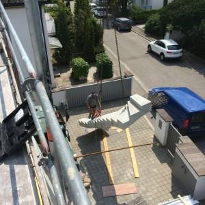 Montage der Treppe 3
