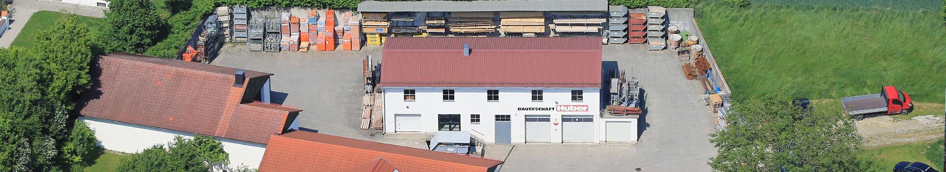 Der Firmensitz des Baugeschäft huber in Inning am Holz