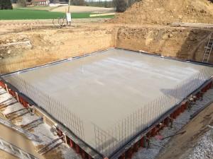 Betonierte Bodenplatte