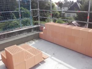 Außenmauerwerk DG