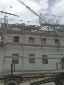 Abtragen des Dachstuhls